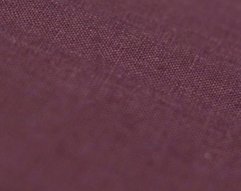 Linen fabric by the yard Eggplant pure linen fabric sold by half yard Wine red soft and natural flax fabric