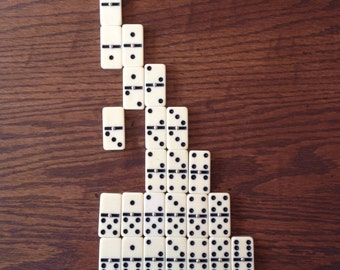 French vintage dominoes