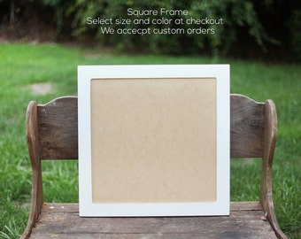 Square Picture Frame Shabby, Picture Frame, Pick size,Nursery Art