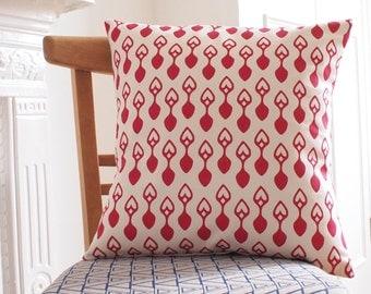 Cushion Welsh Lovespoon Print