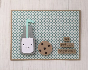 We Belong Together Milk and Cookie Card