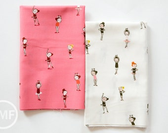 Tiger Lily Tiny Dancers Fat Quarter Bundle, 2 Pieces, Heather Ross, Windham Fabrics, 100% Cotton Fabric, 40932