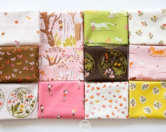 Tiger Lily Morning Frolic Fat Quarter Bundle, 11 Pieces, Heather Ross, Windham Fabrics, 100% Cotton Fabric