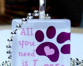 All You Need Is Love Glass Pendant