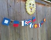 custom maritime signal flag garland