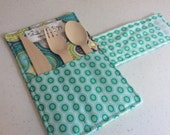 Picnic Utensil Roll - Camping Cutlery Roll - Reusable Cutlery Roll Up - Office Lunch Set - Eco Friendly