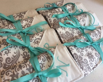 Jewelry Rolls with Monogram and Earring Holder (Any Quantity)  - Bridesmaid Gift