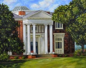 Fine Art Print- Bean Hall, Vintage Library Historic Judson College, Marion, Alabama