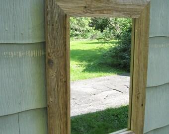 SOLD Large Rustic Primitive Barn Wood Mirror no.1523