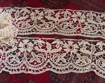Large antique lace flounce