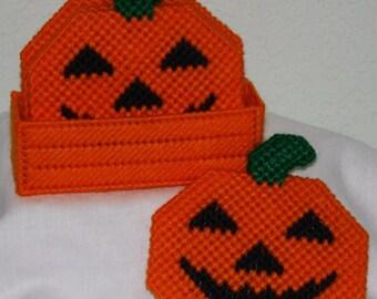 1019 Halloween Pumpkin Coasters