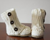 Made to Order Crochet Baby Boots with Buttons