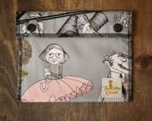 Reusable Small Snack Bag Snap Down - A Ghastlie End - Alexander Henry