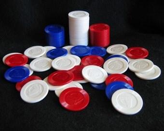 Unusual Vintage Horsehead Design Reliable Plastic Poker Chips