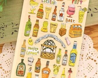 Beer Korea Deco Sticker