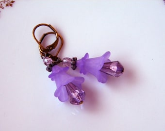 Flower Fairy Fantasy costume Lucite and Glass Pierced Earrings You choose One