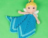 Ella the Fairy Lovey / Security Blanket - PDF Crochet Pattern - Instant Download - Blankie Baby Blanket