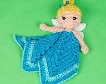 Ella the Fairy Lovey / Security Blanket - PDF Crochet Pattern - Instant Download - Blankie Baby Blanket
