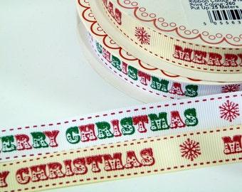 Merry Christmas Font Ribbon