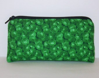 "Pipe Pouch, Grass Green Bag, Pipe Case, Glass Pipe Bag, Padded Pouch, Stoner Gift, Cute Pouch, Hippie Purse, Boho Bag, 420 Bag - 5.5"" SMALL"