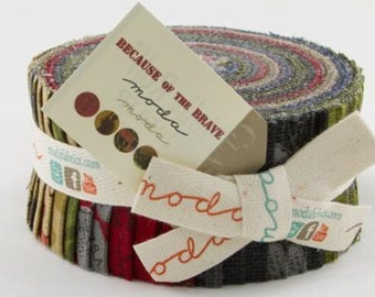 Because of the Brave by Moda - Jelly Roll - Moda 32950JR
