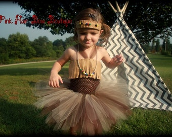 toddler indian costume , Indian Halloween Costume, 6 months - 3T , Indian halloween tutu , Indian tutu, Indian tutu costume , pageant