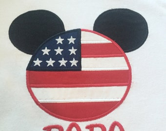 Patriotic 4th of July Mr Mouse flag mouse head personalized plus size shirt