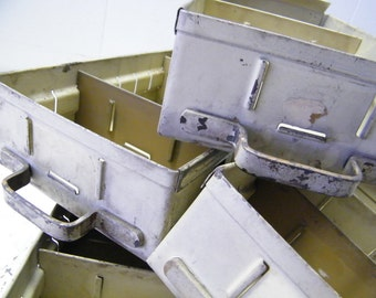Set of 4 Old Industrial Factory Machinist Tool Parts Storage Bin Drawers