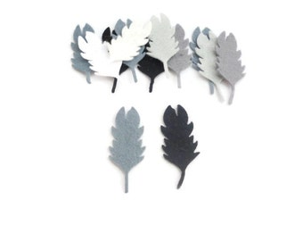 Felt shapes feathers for crafts die cut shapes bird feathers style 6