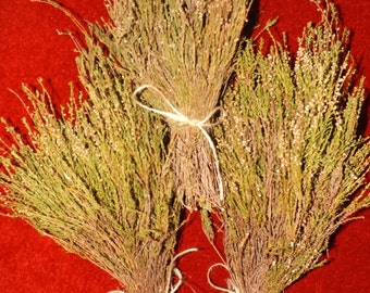 Lucky white Heather Craft Material  - Wild harvested in Scottish Highlands Faery Charm weddings floristry handfasting scotland