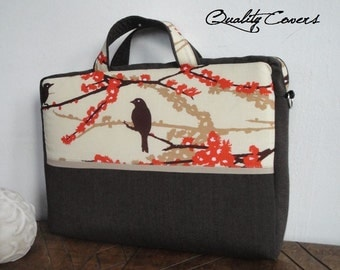 Customizable for Color Fabric and Sizes Laptop Bag -Briefcase orTote bag - extra COMPARTMENT / fully PADDED - exterior Large POCKET