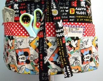 Teacher Crafter Vendor Utility Apron-Comics Mickey