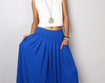 Blue Skirt -  Long Royal Blue Skirt - Maxi skirt : Urban Chic Collection No.2