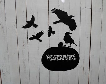 Vinyl Wall Decal Nevermore Halloween Ravens