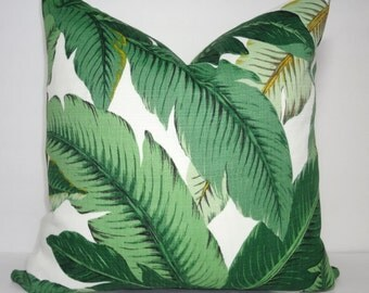 Outdoor/Indoor Palm Tree Pillow Cover Tommy Bahama Swaying Palms Pillow Cover Deck Porch Choose Size
