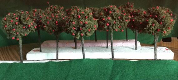 MINIATURE FRUIT TREES for Teachers, Wedding Favors, Model Railroading, Party Centerpiece--  Choose Apple / Orange / Lemon