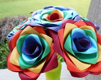 Rainbow Roses, Dozen. Unique Gift, Anniversary, Wedding, Mom, Wife. Custom Orders Welcome. ROYGBIV, Gay Pride
