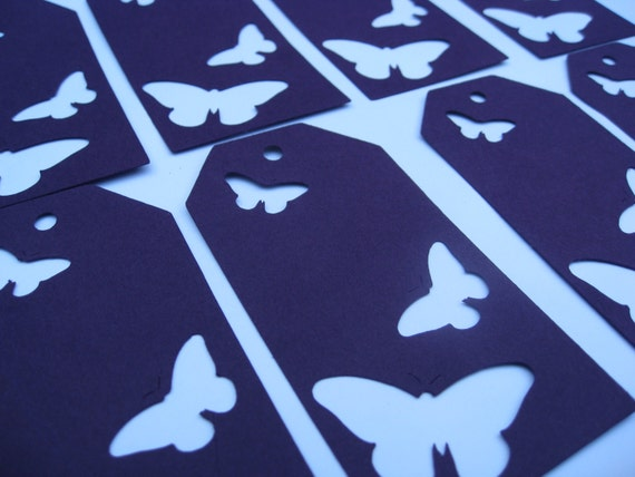 50 Butterfly Tags. CHOOSE YOUR COLORS 4 x 2 inch. Weddings, Showers, Birthdays, Gifts.
