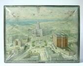 Buffalo NY Vintage tin box, Tindeco box, antique tin litho, Buffalo NY souvenir box, tin biscuit box,