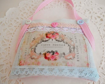 Shabby And Chic Lavender Sachet/Home Decor