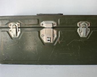 Vintage 1950s Union Utility Metal Storage Chest