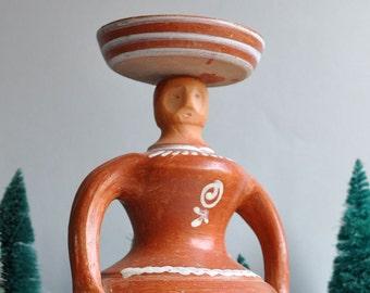 SALE 20% OFF! Large Mayan Vase Pottery Figure - Antonio Costa