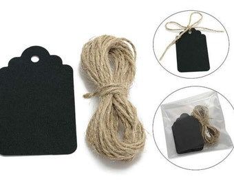 Blackboard Tags with Cord pcs.40