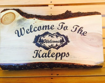 Custom Slab Wood Rustic Signs wooden sign custom wood sign wood house sign cabin signs custom made sign old wood sign