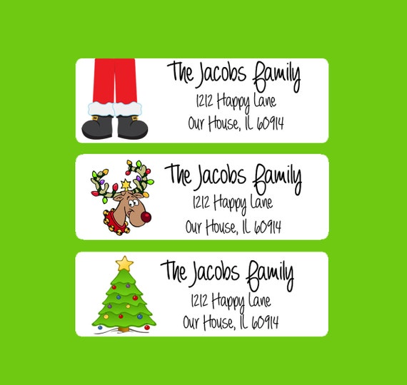 ... , Printable Address Labels, Christmas Tags, Holiday Gift Tags (500