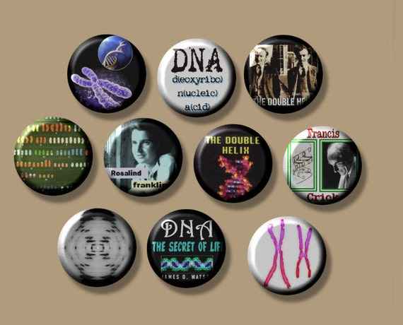 "DNA Genetics 10 Pinback 1"" Buttons Badges Pins"