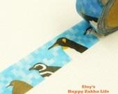 All Kinds of Penguin - Japanese Washi Masking Tape - 5.5 Yards