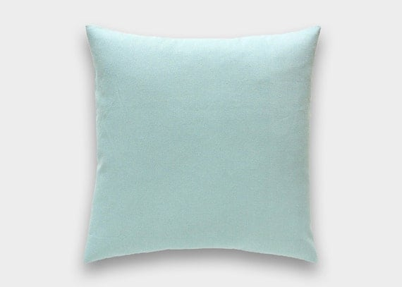 Solid Village Blue Decorative Pillow Cover. All Sizes. Throw Pillow Cover. Light Blue Cushion 13 Sizes.