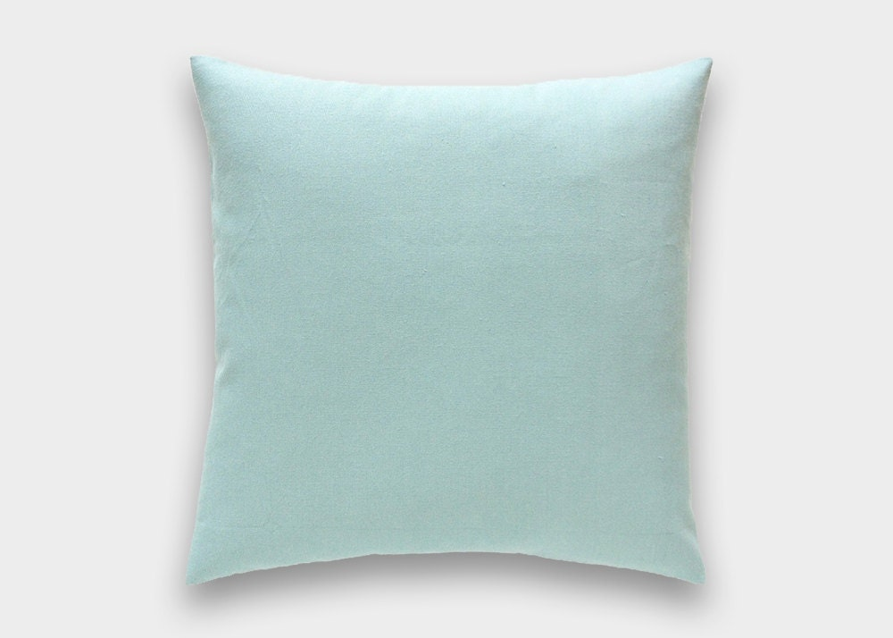 Solid Village Blue Decorative Pillow Cover. All Sizes. Throw
