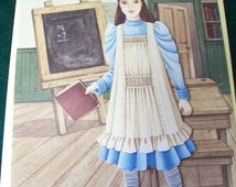 Victorian Dress Doll Card Made in England